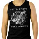 STILL PLAYS WITH BLOCK  CHEVY CAR TRUCK CLASSIC Men Black Tank Top Sleeveless