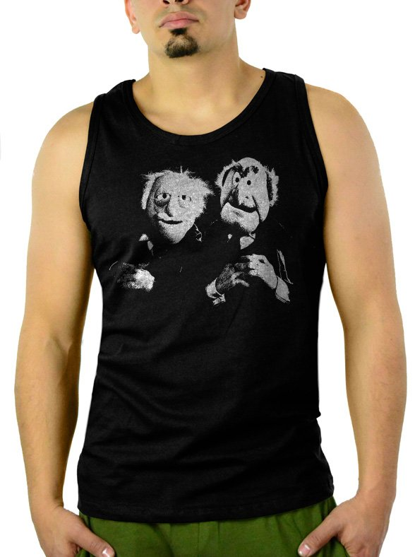 The Muppets - Old Men Men Black Tank Top Sleeveless