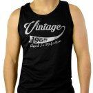 Vintage Year 1965 Funny 50th Birthday Men Black Tank Top Sleeveless