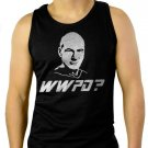 WHAT WOULD PICARD DO-STAR TREK Men Black Tank Top Sleeveless