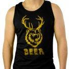 501 Beer Deer funny vintage bear drunk party college Men Black Tank Top Sleeveless