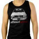 Alfa Romeo alfasud sprint retro Men Black Tank Top Sleeveless