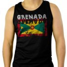 Grenada Flag Men Black Tank Top Sleeveless