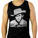 HANK WILLIAMS Country & Western Men Black Tank Top Sleeveless