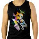 Nikola Tesla Men Black Tank Top Sleeveless