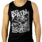 NO PAIN NO GAIN GYM Men Black Tank Top Sleeveless