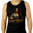 ROWDY Ronda Rousey UFC Fighting Men Black Tank Top Sleeveless