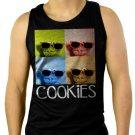 Sesame Street Cookie Monster Glasses Men Black Tank Top Sleeveless