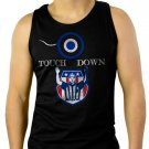 Touchdown Dad Football New Daddy Expecting Father Congratulations Men Black Tank Top Sleeveless