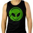 Alien Head UFO Aliens Geek Men Black Tank Top Sleeveless