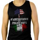 American Grown with Italian Roots Men Black Tank Top Sleeveless