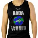 Best DADA in the World Fathers Day Gift Present Men Black Tank Top Sleeveless