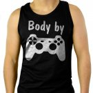 Body by Video Games Men Black Tank Top Sleeveless