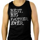 Boys Best Big Brother Ever Men Black Tank Top Sleeveless