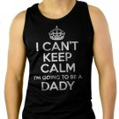 Dad Maternity Men Black Tank Top Sleeveless