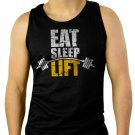 Eat Sleep Lift Men Black Tank Top Sleeveless