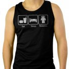 Eat Sleep Robotics Nerd Geek Men Black Tank Top Sleeveless