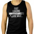 FART LOADING PLEASE WAIT Men Black Tank Top Sleeveless