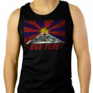 FREE TIBET Coexist Flag Dalai Lama Peace Human Rights Men Black Tank Top Sleeveless