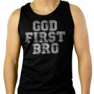 God First Bro Men Black Tank Top Sleeveless