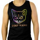 Golf Wang Cat OFWGKTA Tyler the Creator Odd Future Wolf Gang Men Black Tank Top Sleeveless
