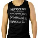 INEPTOCRACY Political Humor Anti Obama Funny Men Black Tank Top Sleeveless