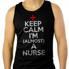 Keep Calm I'm Almost A Nurse  Men Black Tank Top Sleeveless