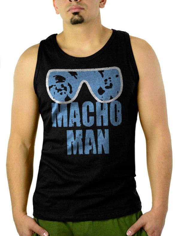 MACHO MAN SAVAGE RANDY FUNNY Men Black Tank Top Sleeveless