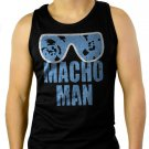 MACHO MAN SAVAGE RANDY FUNNY Men Black Tank Top Sleeveless