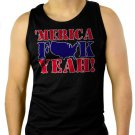 MERICA F$$K YEAH Men Black Tank Top Sleeveless