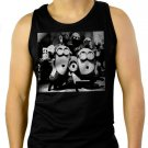 Miinions Happy Birthday Men Black Tank Top Sleeveless