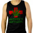 Nature's Medicine medical marijuana Men Black Tank Top Sleeveless