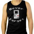 Never Forget Video Game Men Black Tank Top Sleeveless