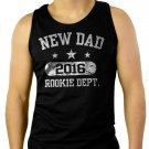 New Dad 2016 Father's Day Gift Men Black Tank Top Sleeveless