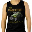 Old School Rodfather Hot Rat Rod Classic Car Men Black Tank Top Sleeveless