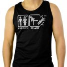 Problem Solved Funny Couple Men Black Tank Top Sleeveless