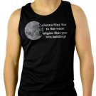 Science Flies You to the moon Religion flies you into buildings Men Black Tank Top Sleeveless
