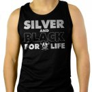 Silver and Black Forever Oakland Raiders Men Black Tank Top Sleeveless
