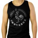 Sriracha Rooster Label Funny Bottle Red Hot Chili Sauce Men Black Tank Top Sleeveless
