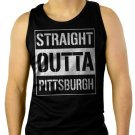 Straight Outta Pittsburgh Men Black Tank Top Sleeveless