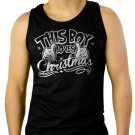 This Boy Loves Christmas Men Black Tank Top Sleeveless