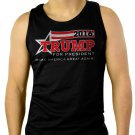 TRUMP for President 2016 Men Black Tank Top Sleeveless