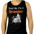 Trust Me I'm A Drummer Men Black Tank Top Sleeveless