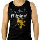 Trust Me I'm Filipino Men Black Tank Top Sleeveless
