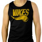 VIKES Minnesota Vikings Men Black Tank Top Sleeveless
