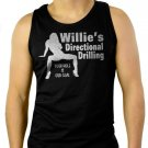 Willie's Directional Drilling Your Hole is Our Goal Men Black Tank Top Sleeveless