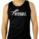 AWSOME PITBULL American pit bull terrier Spiked Dog Men Black Tank Top Sleeveless