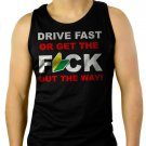 DRIVE FAST Funny JDM Soshinoya Men Black Tank Top Sleeveless