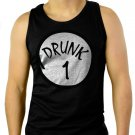 Drunk 1 ST PATRICK'S DAY beer irish PATTY'S FUNNY Men Black Tank Top Sleeveless