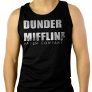 Dunder Mifflin PAPER The Office Funny SCHRUTE Men Black Tank Top Sleeveless